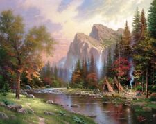 Thomas Kinkade - Mountains Declare His Glory 24x28 S/N Limited Edition Paper
