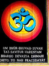 Meditation Decor Ohm Art Indian Divine Hindu  Bedspread Wall Hanging Tapestries