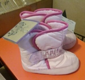 NEW KAMIK Pink SnowPup Baby Boots Shoes Large 5-6