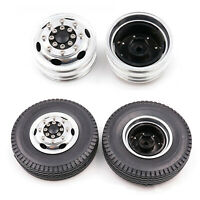 1Set Metal Front Narrow Hubs Hexagon Para 1/14 TAMIYA RC Container Truck Tractor