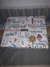 Authentic Dolce & Gabbana EMPTY Shoe Box, Graffiti Design, box only