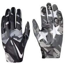 NEW NIKE ADULT UNISEX NIKE VAPOR FLY FOOTBALL GLOVES GRAY WHITE BLACK SZ/ S