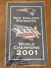"2001 New England Patriots Super Bowl XXXVI 36 Champions 14"" Banner"