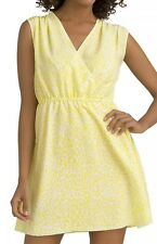 Kim Kardashian Kollection Bright Yellow Leopard Print Wrap Dress S Small NEW