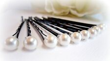 Women Bridal IVORY Pearl  Hair pins  WEDDING PARTY PROM BRIDES GIRLS  BOBBY PINS