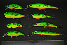 8 X Green MIX SIZE Fishing lures Minnow Popper Metal VIB Crank Lure Bait 8MG