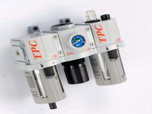 "TPC Pneumatics 3/8""NPT 5 micron Filter-Regualtor-Lubricator FRL Combo set Manual"