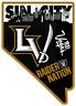 Las Vegas Raiders New Logo Sin City in State of Nevada Logo Type Die Cut MAGNET