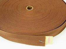 7/8 inch, 10 yards BROWN/BRONZE nylon lightweight webbing strapping
