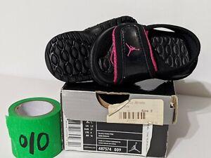 Infant Toddler Jordan Hydro 2 Sandal Black Pink 487574 009 Size 2c