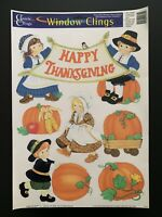 Vintage Classic Clings Window Clings Thanksgiving Decorations