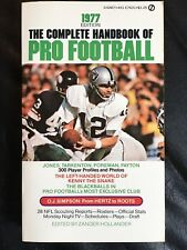 The Complete Handbook Of Pro Football 1977 Edition, Football Books, Ken Stabler