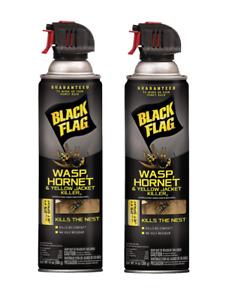 (2 Pack) Black Flag Yellow Jacket, Wasp & Hornet Killer Kills the Nest!