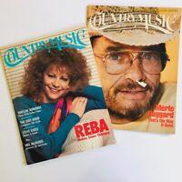 2 Country Music Magazines--REBA McENTIRE Jul/Aug'89 + MERLE HAGGARD Jan/Feb '86