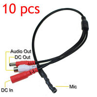 10Pcs Sensitive Mini Audio CCTV Microphone MIC DC 12V DVR Security Camer System
