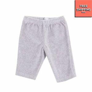 GF FERRE' Newborn Velour Trousers Elastic Waist Rhinestone Logo