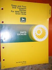 John Deere Three & Four Drill Transport Hitches Factory Parts Catalog Manual