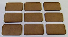 2mm thick MDF Medium Size FOW type Bases 1 pack of 9, FOW Flames of War