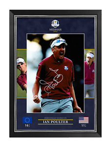 Ian Poulter Signed & Framed 16X12 Photo Ryder Cup Private SIGNING AFTAL COA (G)