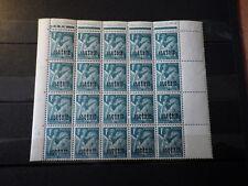 bloc 20 Timbres ALGERIE ALGERIA 1945 MNH** Yt: 231 (Mi: 229) Surcharge Overprint