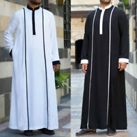 Homme Tenue longue à manches longues Robe ethnique caftan Thobe Daffah East Robe