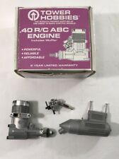 R/C Tower Hobbies .40 ABC Engine And Muffler No Paperwork New