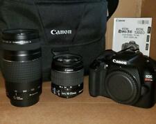 Canon EOS Rebel T6 DSLR Camera & 18-55mm Lens & 75-300 Lens- Black w/ Case