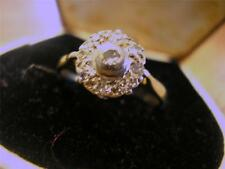 Beautiful Edwardian 18ct Gold & Diamond Cluster Ring