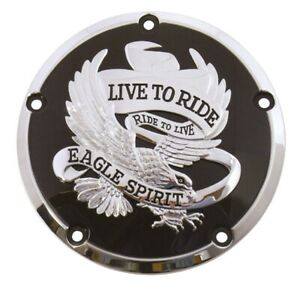16+ Harley FLHT Touring Live To Ride Eagle Primary Clutch Derby Cover 78161