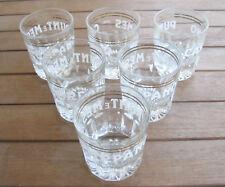 CARPANO PUNT E MES 6 Bicchieri Glass (1960) ORIGINALI PROFESSIONALI BAR