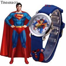 Children's Watches 3D Superman Cartoon Watch Casual Boys Sports Quartz Watches