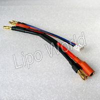 4mm Bananenstecker 5.5mm Goldkontakt Buchse Hardcase 2s 12AWG Adapter Kabel Akku