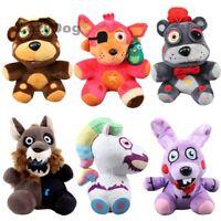 """FNAF Five Nights at Freddy's Plushie Toys 7"""" Plush Bear Foxy Bonnie Wolf Unicorn"""