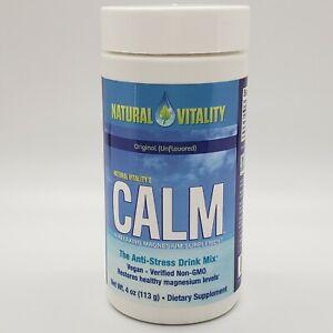 Natural Vitality Calm Anti-Stress Drink Mix Original Unflavored 4 Oz Exp 05/22