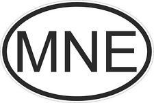 Adesivo adesivi sticker codice auto moto ritagliato nazioni ovale MONTENEGRO