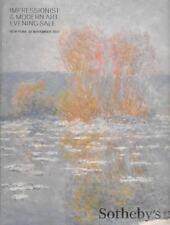 Sotheby's Impressionist Modern Evening Sale LARGE Auction Catalog Nov 2017