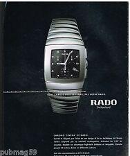 Publicité Advertising 2001 La Montre Chrono Sintra de Rado