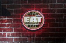 led lighted neon rope sign shop decor message di 00004000 splay open 24/7 diner home eat