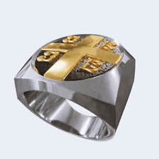 Ring, Emperor ring, Orthodox Ring Imperial Cross Byzantine Paleologos Emblem