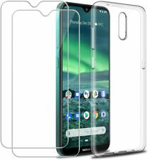 For Nokia 2.3 Case Clear Slim Gel Cover & Glass Screen Protector