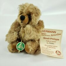 Ulla Hermann Limited Edition 208/500 Mohair Bear Small-Philippe Jointed Germany