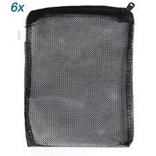"""6 pcs Filter Media Mesh Bags 12"""" x 10.5"""" Zipper Reusable aquarium fish tank pond"""