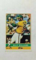 1976 Topps Billy Williams Baseball Card #525 - Oakland Athletics HOF