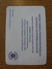 03/11/1984 Rugby Union Ticket: England v Australia [At Twickenham] Invitational