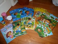 Lot New Dora The Explorerer & Diego Coloring Book Cups Posters & More