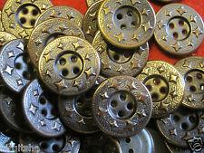 12 Metallknöpfe Farbe Kupfer 18 mm Jeansknopf