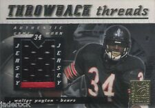 Walter Payton 2000 Donruss Elite Throwback Threads Game Used Jersey Patch #/100