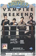 Vampire Weekend 2010 Portland Concert Tour Poster - Group Standing Eating Lunch