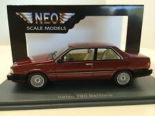 Neo Scale Models 1/43 Volvo 780 Coupè Bertone 1988 Bordeaux Art. Neo43830