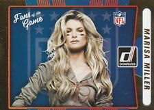 2016 DONRUSS FOOTBALL MARISA MILLER SI SWIMSUIT FAN OF THE GAME #6